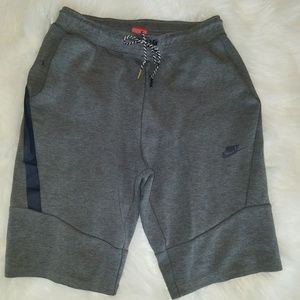 Nike Tech Sweat Shorts Grey Mens Medium